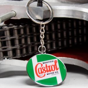 Castrol round keyring