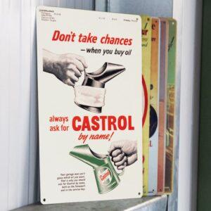 Castrol poster don't take chances