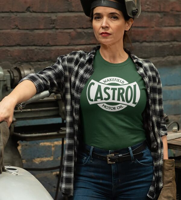 Unisex green castrol t-shirt