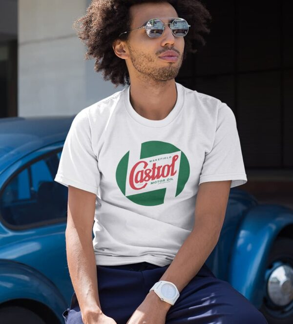 White t-shirt castrol