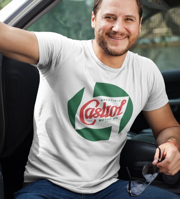 Castrol t-shirt white
