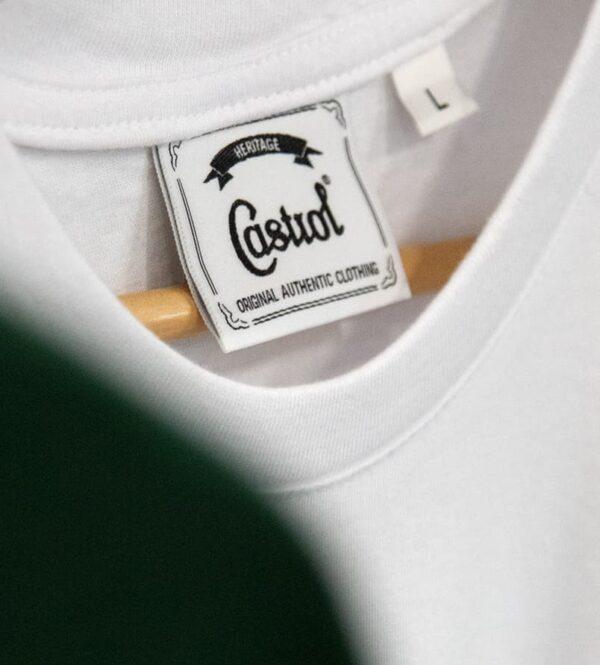 White castrol t-shirt